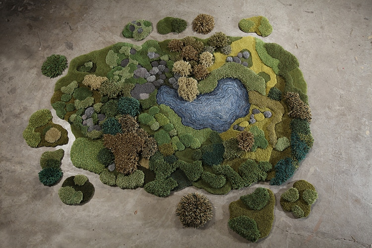 nature-inspired furniture Alexandra Kehayoglou rug