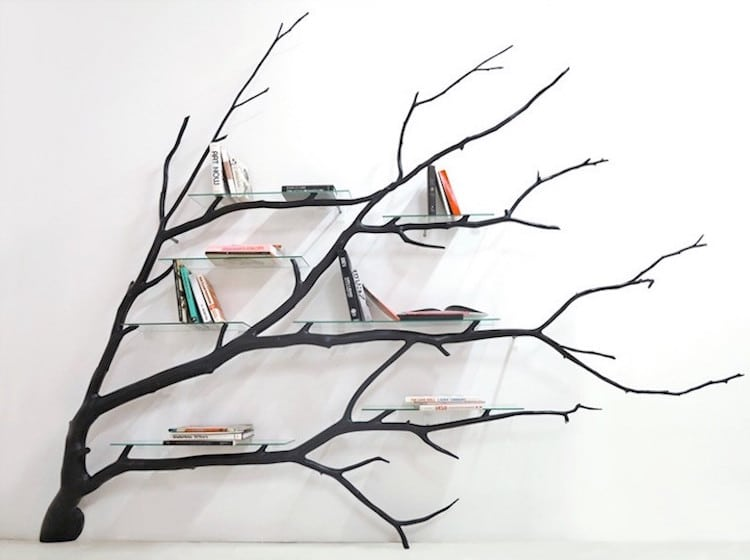 nature-inspired furniture sebastian errazuriz tree bookshelf
