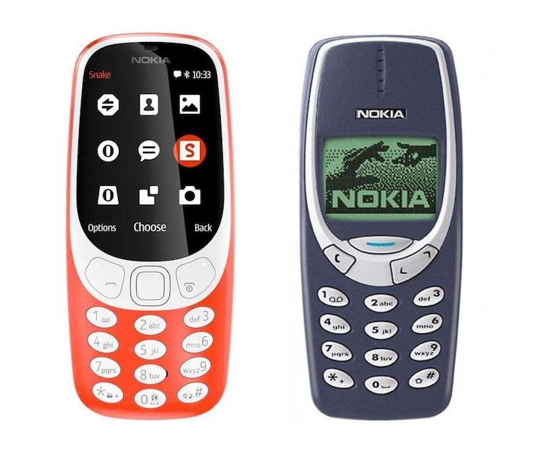 nokia 3310 in 2017 vs 2000