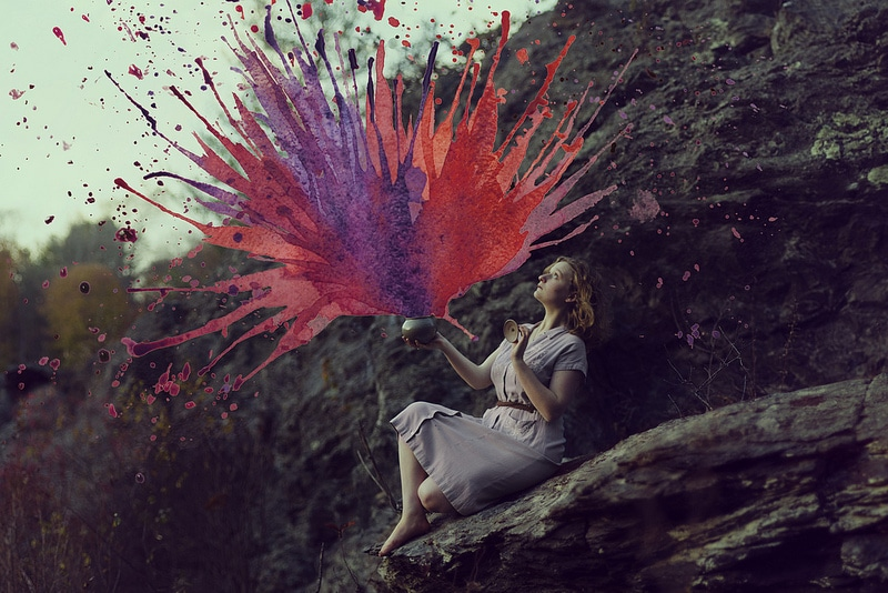 paintings merged with photographs art photography aliza razell