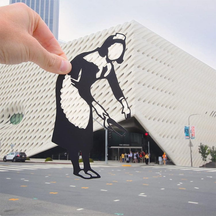 paper cut-out photography paperboyo Rich McCor paper cut-outs travel art landmarks