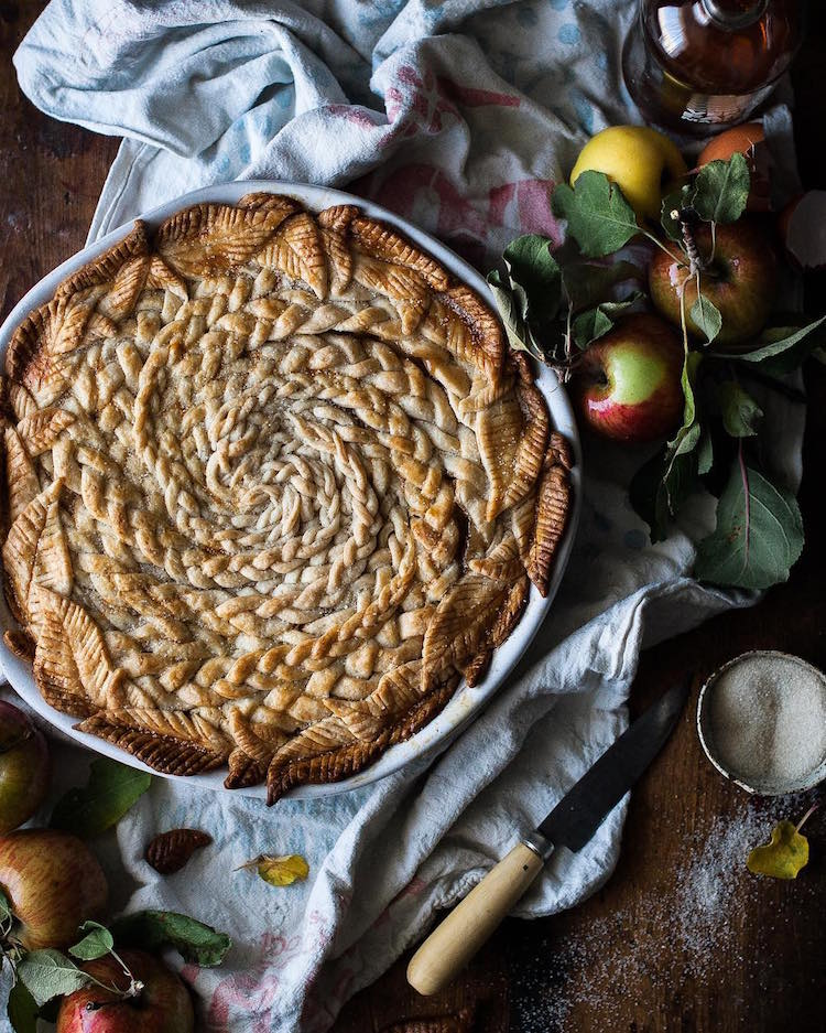 Pi Day baking pie crusts Caramel Apple Pie by Kayley McCabe