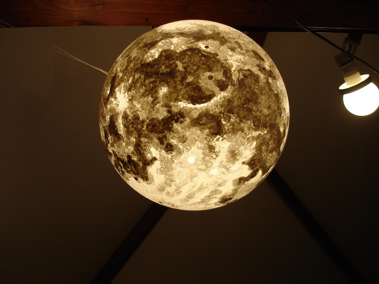 Ethereal Moonlight Lamps Add A Swirling Celestial Touch To