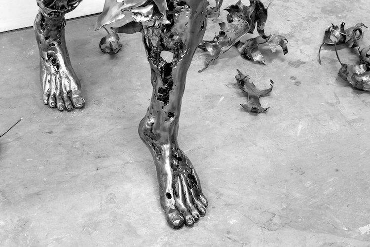 regardt van der meulen deconstructed sculptures weathered