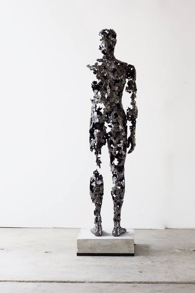 Deconstructed sculptures explore the fragility of