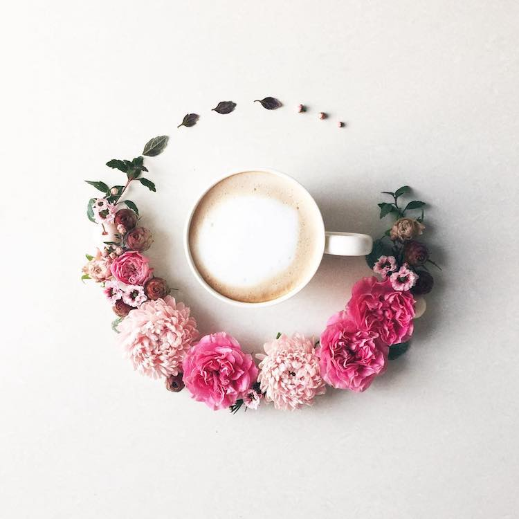 flower arrangement coffee