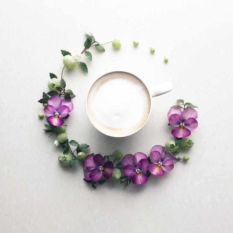 morning coffee flower art