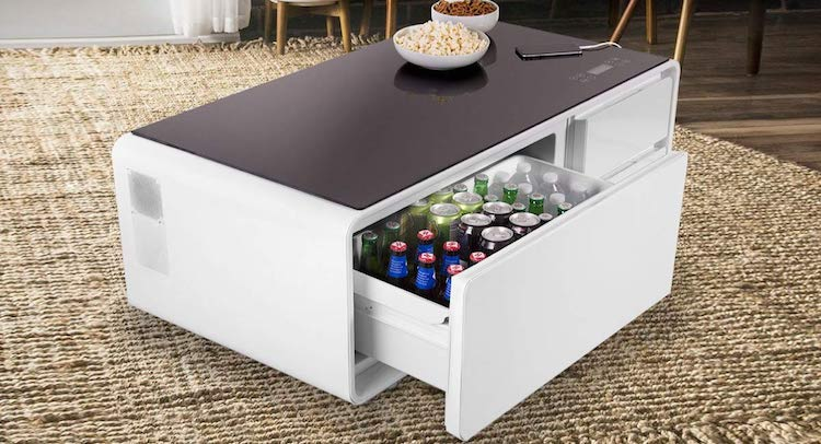 Smart coffee table is a perfect hi tech companion for tv binge watching - Table basse high tech ...