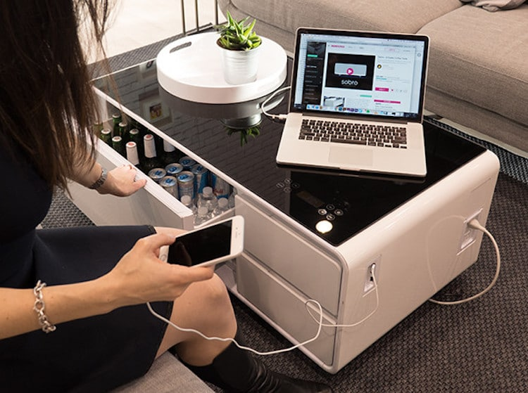 Smart Coffee Table Is A Perfect Hi Tech Companion For Tv Binge Watching