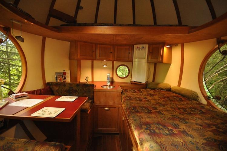 sleep in a treehouse
