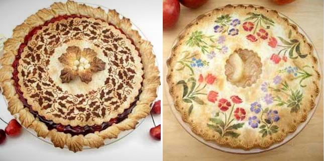 Stenciled Pie Crusts