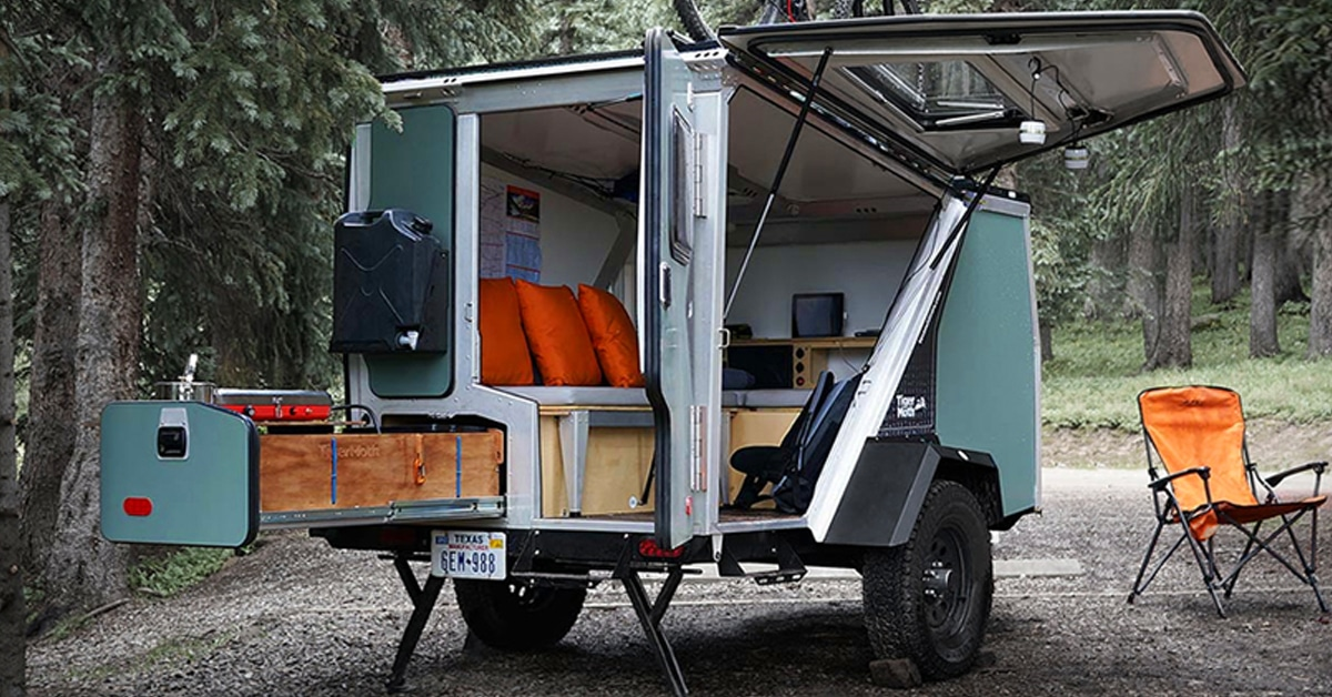 Rechargable Camper Trailer Provides A Week Of Off The Grid