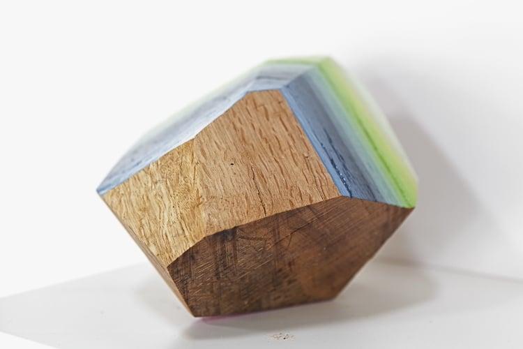 woodrocks wood block sculpture gemstone victoria wagner art design