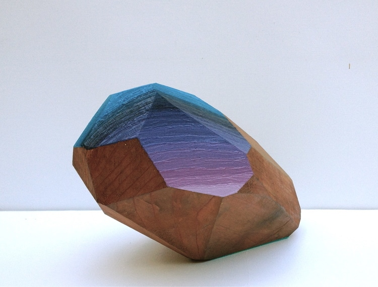 woodrocks wood block sculpture gemstone victoria wagner art design