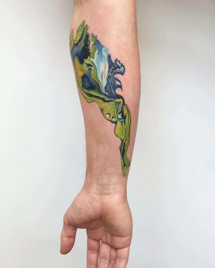 watercolor tattoos abstract pretty Amanda Wachob