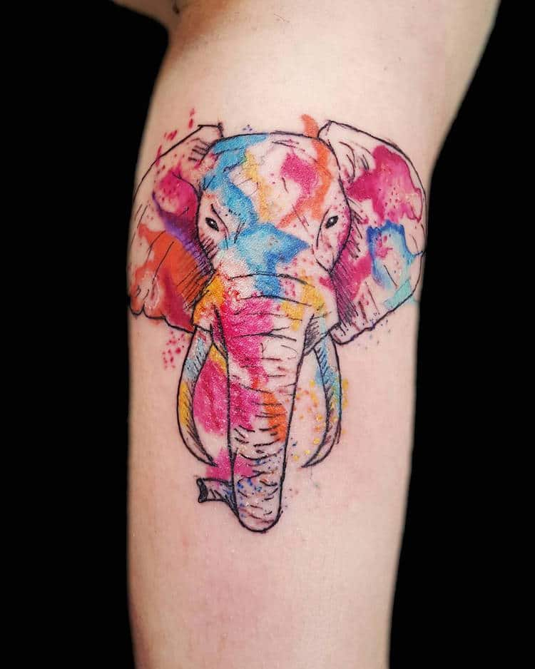 Watercolor Tattoos by Samantha Gauges