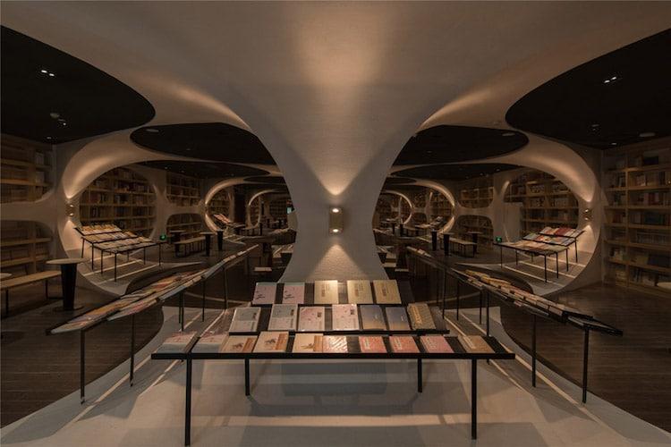 creative bookstore interiors