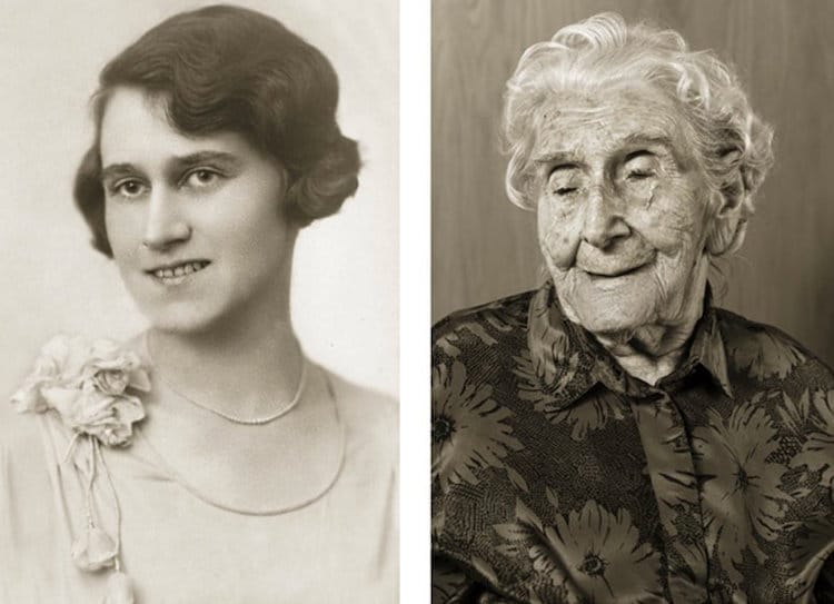 Jan Langer Faces of Century Then-and-Now Photos 100 Years Old
