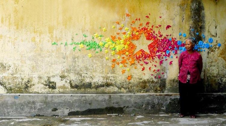 rainbow art installations rainbow installations design colorful art