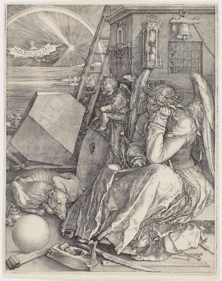 Albrecht Durer engraving line art