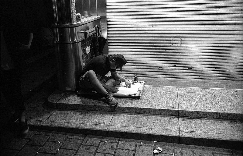 Tokyo Street Photography by Gabor Samjeske