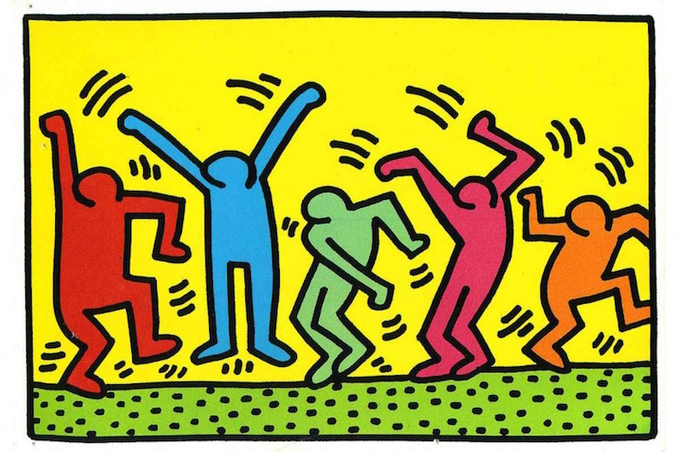 Keith Haring line drawing