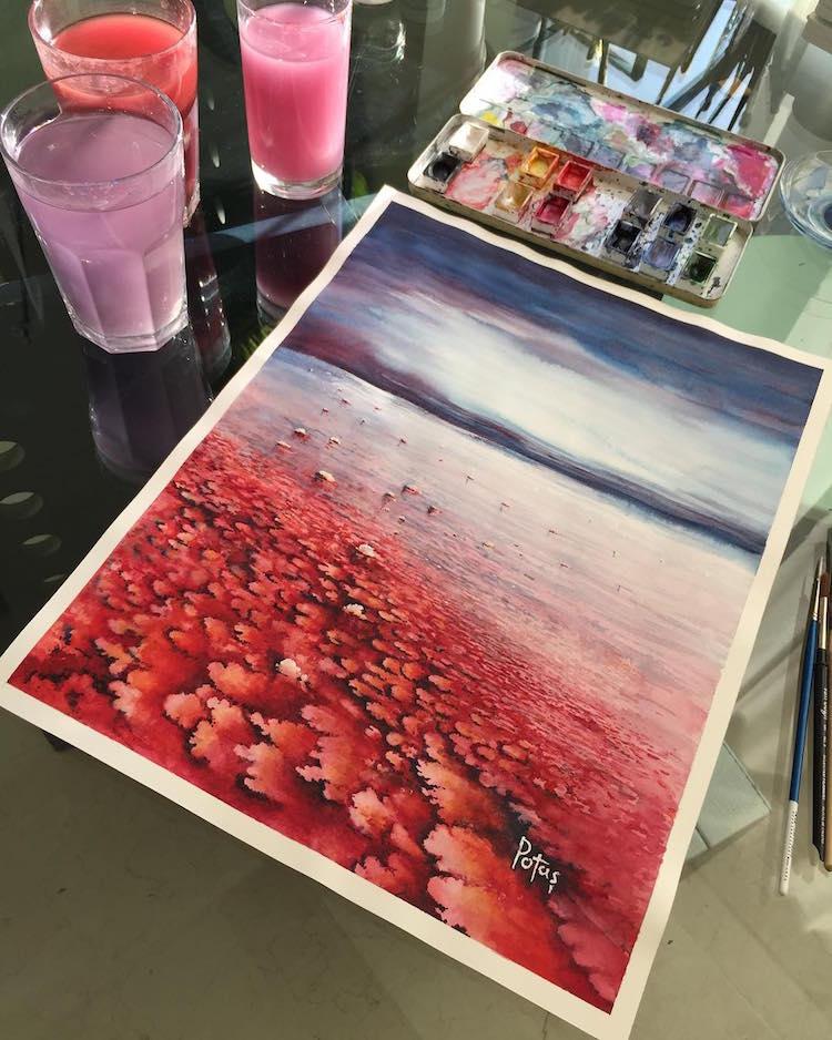 Watercolor Landscapes by Adem Potas