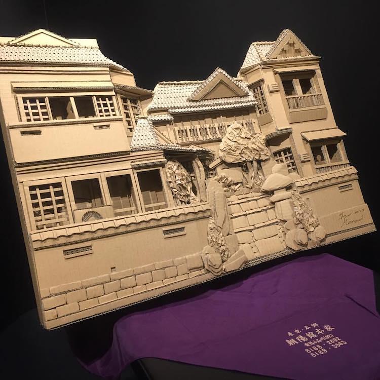 Amazon Cardboard Box Sculptures Cardboard Sculptures Cardboard Art Cardboard Box Art Monami Ohno