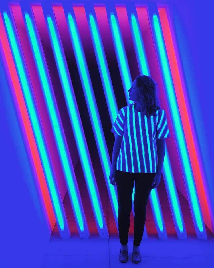 Artfully Awear Fashion Inspired by Dan Flavin