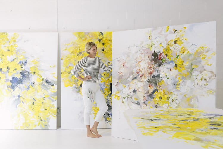 Abstract Floral Paintings By Bobbie Burgers Burst With