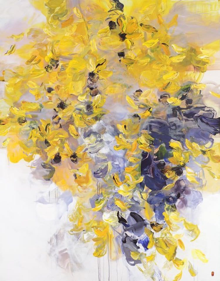 abstract floral paintings bobbie burgers abstract painting