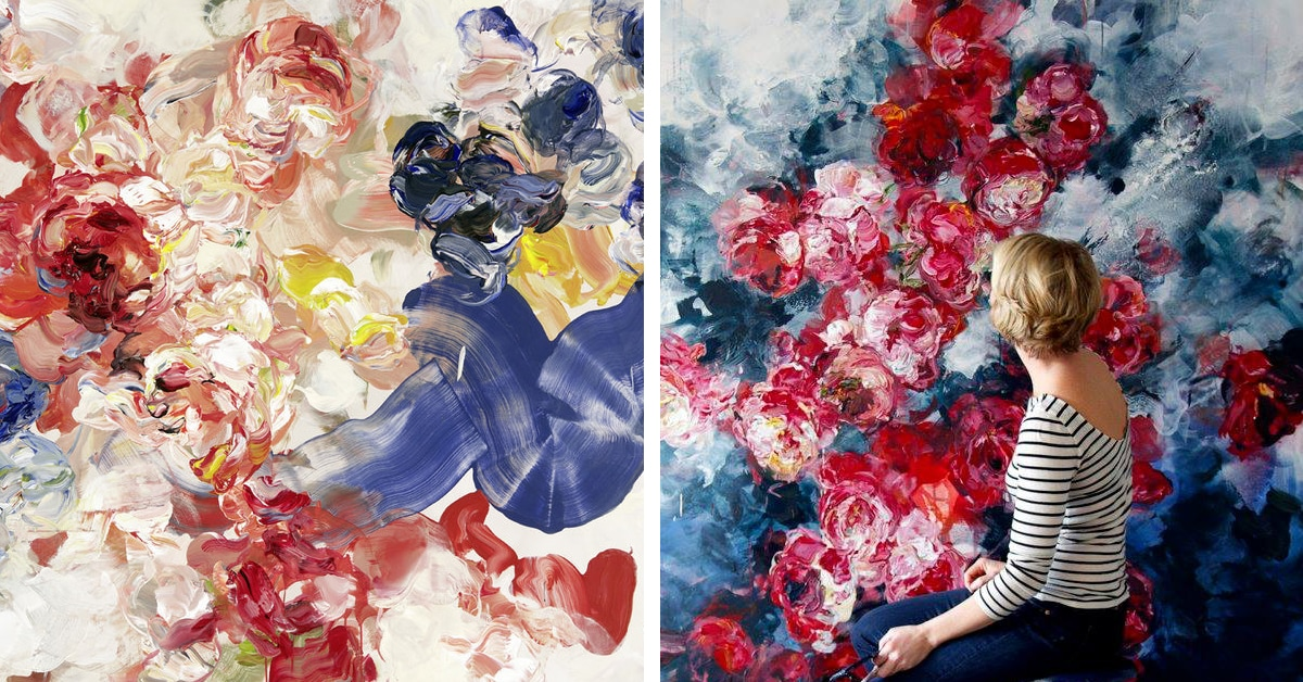 Abstract Floral Painti...