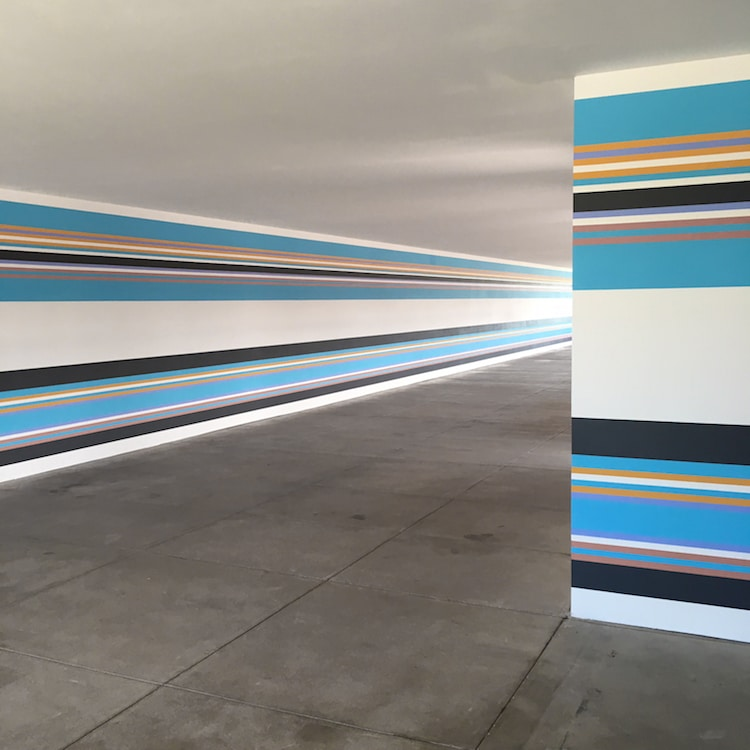 Bridget Riley Mural