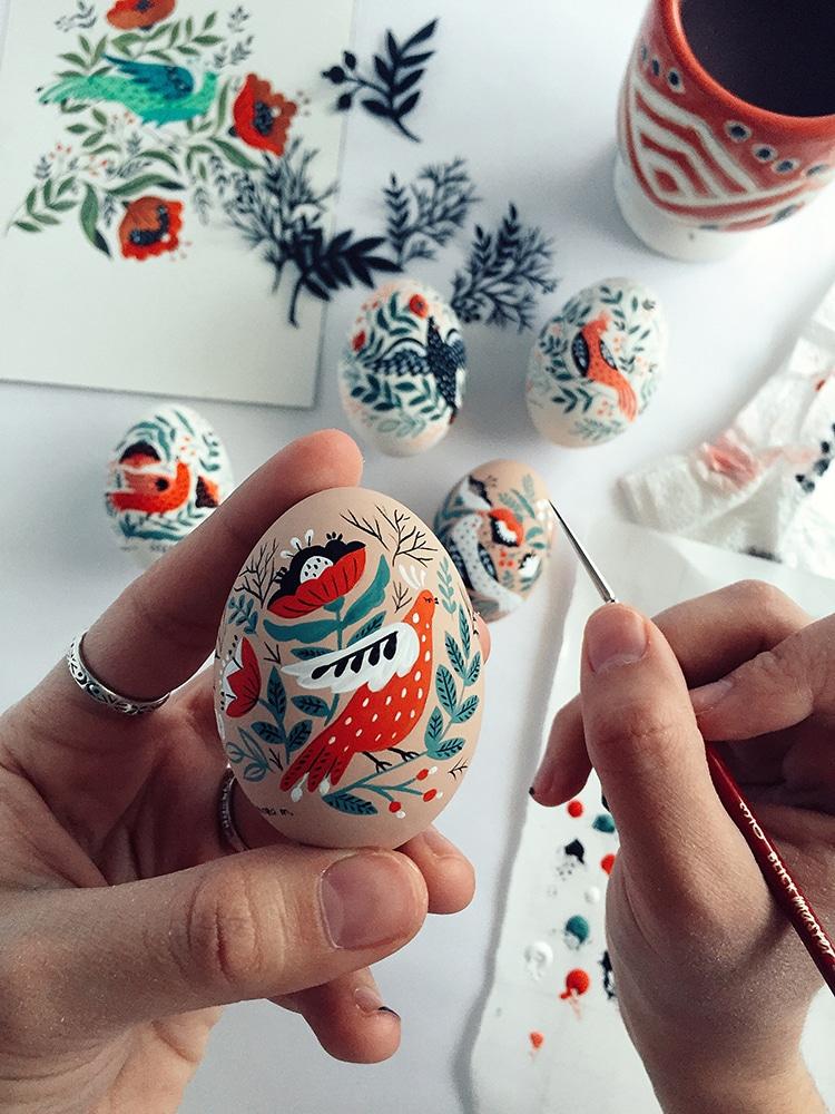 dinara mirtalipova mirdinara folk art easter eggs hand-painted eggs