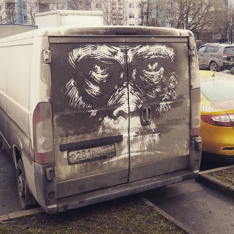 Dirty Car Art by Nikita Golubev