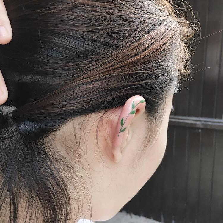 Tattoos on Ear
