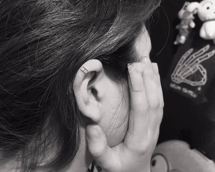 Behind Ear Tattoos