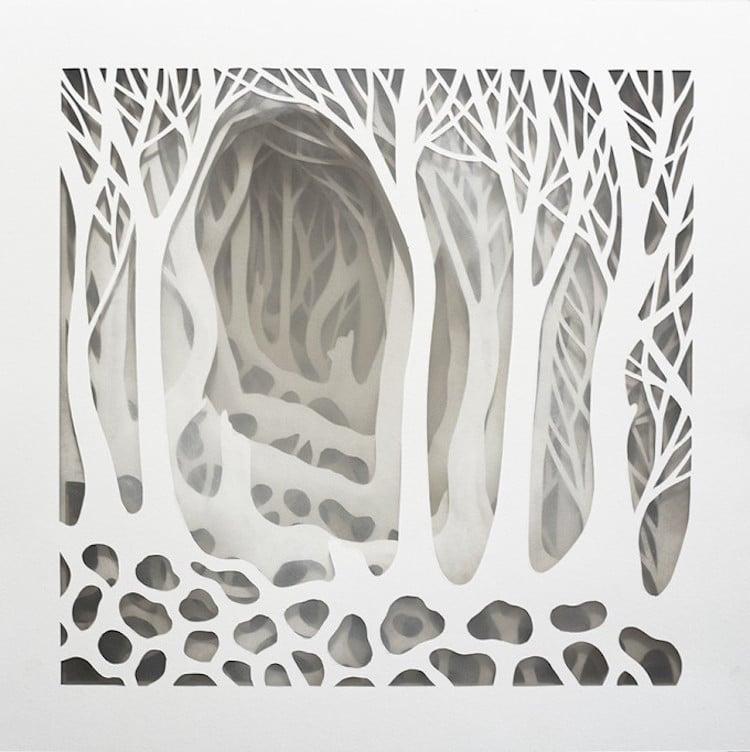 La pietra e la piuma 3-Dimensional Paper Box by Elisa Mearelli