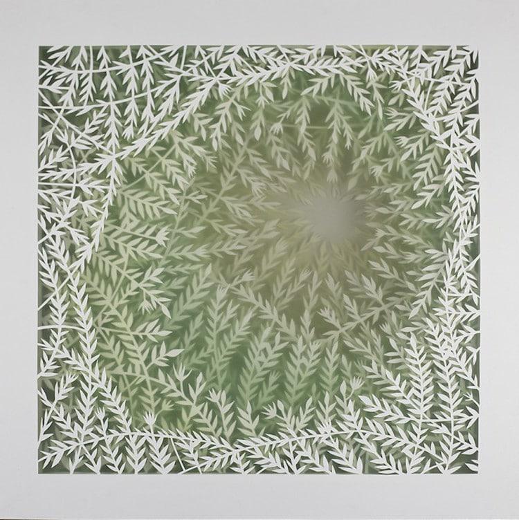 La Pietra La Piuma 3-Dimensional Paper Art by Elisa Mearelli