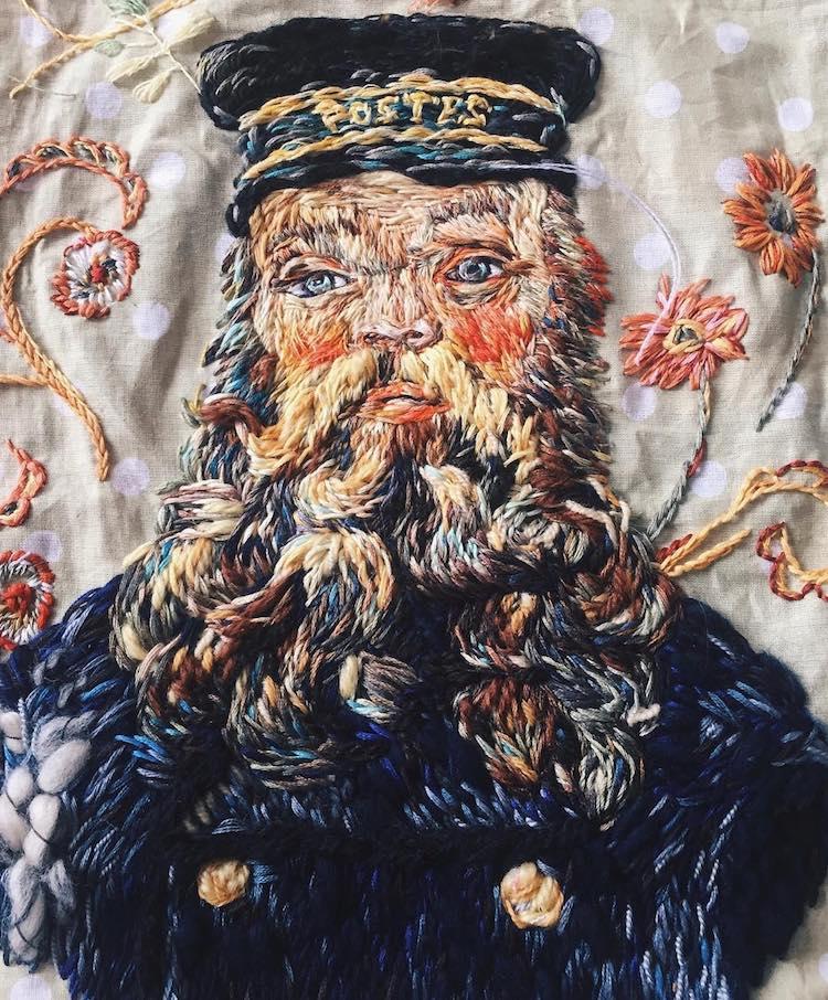 van gogh embroidey art