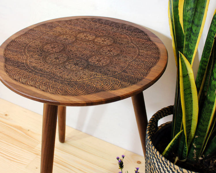 Wood Burned Tables By Port Rhombus Combine Classic And Modern Taste