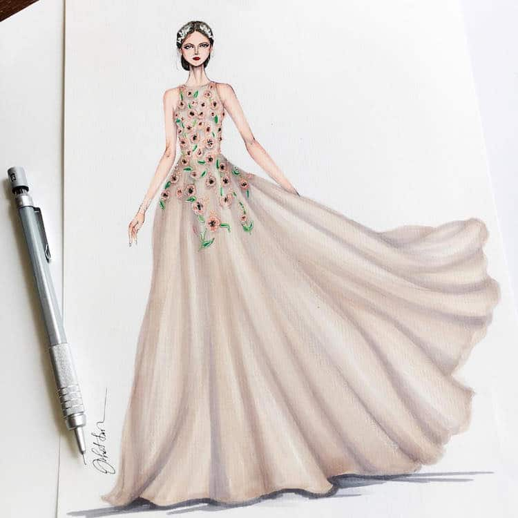 Gown Designs By Eris Tran Showcase Fashion Illustrators Skill