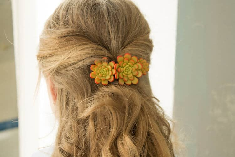 succulent hair pieces