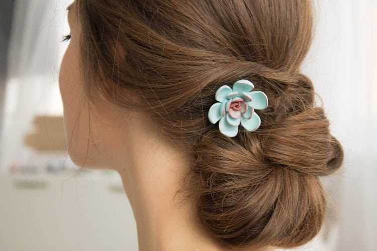 succulent hair accessories