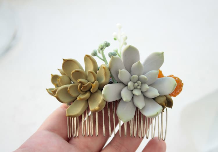 succulent hair for wedding