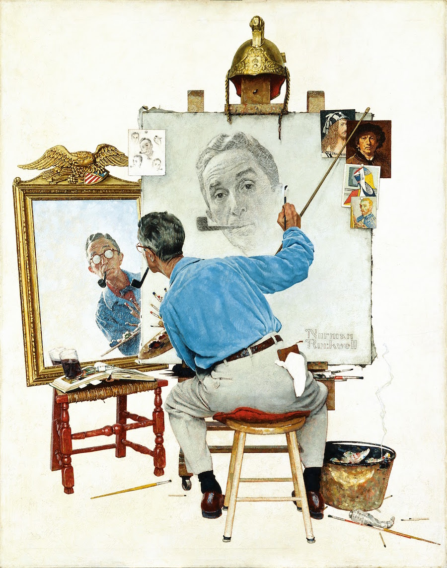 Famous Self-Portraits Art History Norman Rockwell Famous Self Portraits