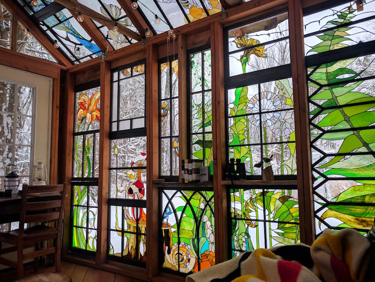 Spectacular Stained Glass Cabin Offers A Magical Lens To