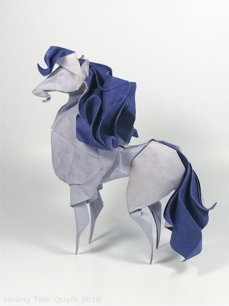 Origami de plegado húmedo de hoang tien quyet