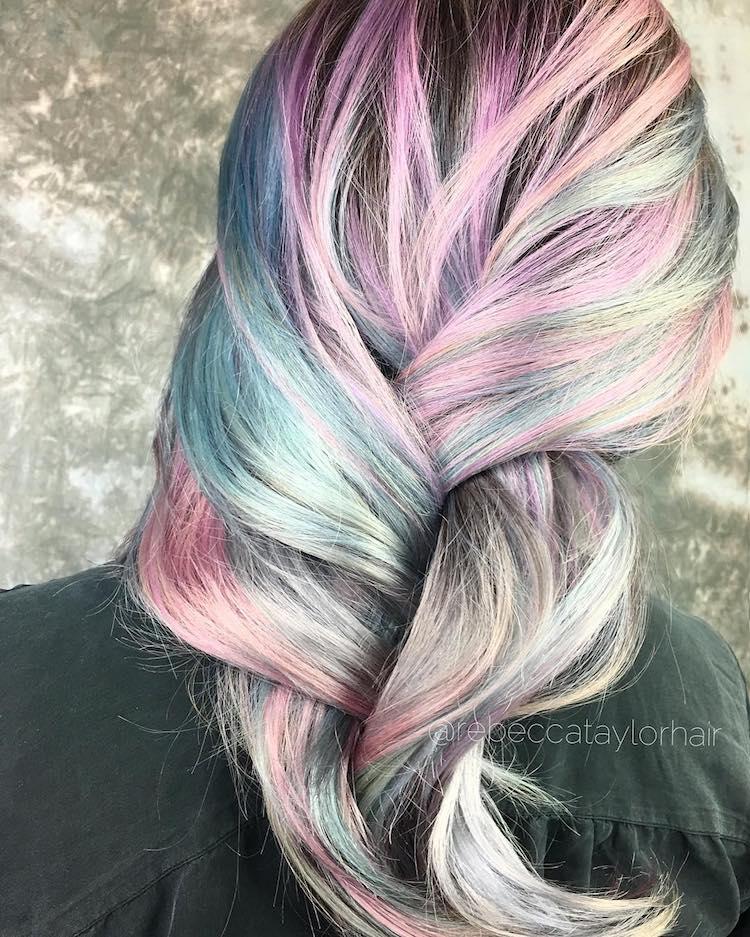 metallic hair trends