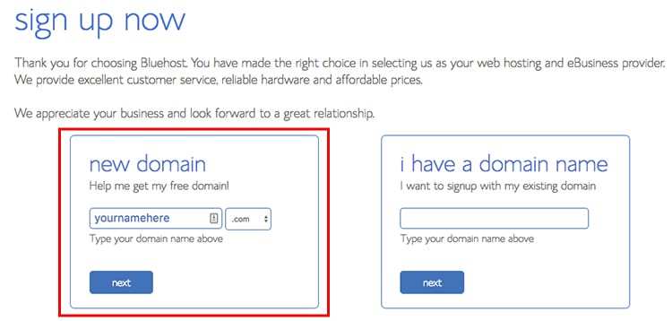 how to add a domain name to bluehost